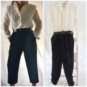 Vintage 80s Lace Velvet Jumpsuit d. Frank NWT Lg.